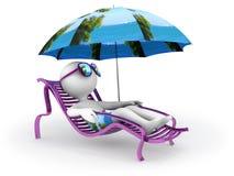 Wakacje: seashore relaks Zdjęcia Royalty Free