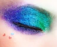 Wakacje spangled oka makeup Zdjęcia Stock
