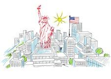 Wakacje w America Ilustracja Wektor