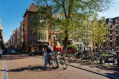 Wakacje w Amsterdam w jesieni Obraz Stock