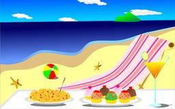 Wakacje w plaży Zdjęcia Royalty Free