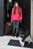 Wakacje z psem zdjęcie royalty free