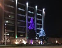 Wakacji światła na miasto budynku Zdjęcie Stock
