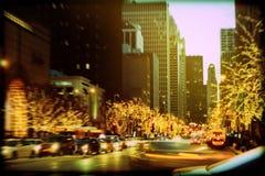 Wakacji światła na Michigan alei zdjęcia royalty free