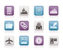 wakacji ikony podróży wakacje Obraz Stock