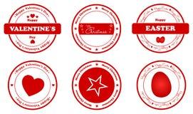 Wakacji znaczki Fotografia Stock