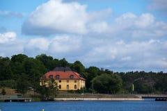 Wakacyjna chałupa w Sztokholm Szwecja Fotografia Stock