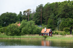 Wakacyjna chałupa w Sztokholm Szwecja Zdjęcia Stock