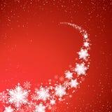 Wakacyjna miecielica Boże Narodzenia i nowego roku tło Płatek śniegu ślad również zwrócić corel ilustracji wektora ilustracji