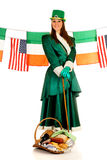 wakacyjna Patrick st kobieta Obraz Royalty Free