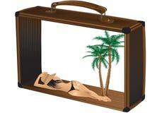 wakacyjna walizka Obrazy Stock