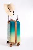 Wakacyjna walizka i kapelusz Obrazy Stock