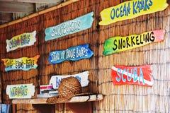 Wakacyjne aktywność, wycieczki turysyczne morze Obraz Royalty Free