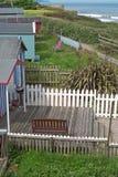 Wakacyjne budy na północny Devon brzegowy UK Obrazy Stock