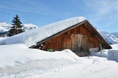 Wakacyjne chałupy w Braunwald, Szwajcaria Fotografia Royalty Free