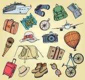 Wakacyjne doodle rzeczy ilustracja wektor