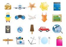 wakacyjne ikony Obraz Stock