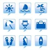 wakacyjne ikony Zdjęcie Stock