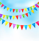 wakacyjne tło flaga urodzinowe kolorowe Obraz Stock