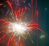 Wakacyjni świętowanie fajerwerki obraz stock