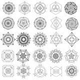 Wakacyjni wzory gwiazdy i kwiaty dla prezentów gruntują royalty ilustracja