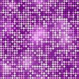 Wakacyjny bezszwowy purpurowy błyskotliwy dyskoteki tło Wektoru des Zdjęcia Stock