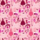 Wakacyjny Bezszwowy wzór dla dziewczyn Princess pokój - splendoru acce royalty ilustracja
