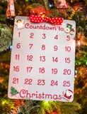 Wakacyjny Bożenarodzeniowy adwentu kalendarz Obraz Royalty Free