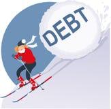 Wakacyjny dług ilustracja wektor