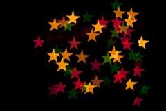 Wakacyjny dekoracyjny tło z dekoracyjnymi światłami Obraz Royalty Free