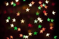 Wakacyjny dekoracyjny tło z dekoracyjnymi światłami Zdjęcie Stock