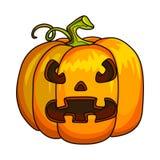 Wakacyjny Halloweenowy Dyniowy Jack lampion royalty ilustracja