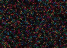 Wakacyjny horyzontalny czarny tło z kolorową tęcza kolorów confetti papieru wzoru teksturą royalty ilustracja