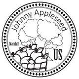 Wakacyjny Johnny Appleseed ilustracja wektor