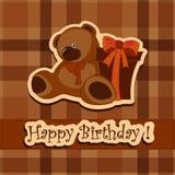 Wakacyjny kartka z pozdrowieniami na jego urodziny Obrazy Stock