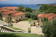 Wakacyjny kurort w Grecja Fotografia Royalty Free