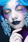 Wakacyjny makijaż Piękny Woman& x27; s twarz Obrazy Royalty Free