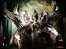 Wakacyjny nadokienny pokaz przy Bergdorf dobrym człowiekiem, NYC Zdjęcie Royalty Free