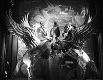 Wakacyjny nadokienny pokaz przy Bergdorf dobrym człowiekiem, NYC Fotografia Stock