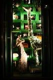Wakacyjny nadokienny pokaz przy Bergdorf dobrym człowiekiem, NYC Obraz Royalty Free