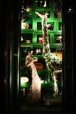Wakacyjny nadokienny pokaz przy Bergdorf dobrym człowiekiem, NYC Zdjęcia Royalty Free