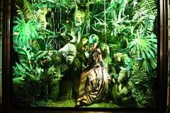 Wakacyjny nadokienny pokaz przy Bergdorf dobrym człowiekiem, NYC Obrazy Royalty Free