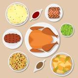 Wakacyjny Obiadowy stół ilustracja wektor