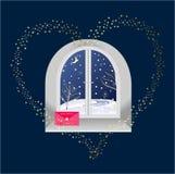 Wakacyjny okno ilustracja wektor