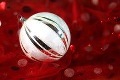 Wakacyjny ornament na Świątecznej tkaninie Zdjęcie Royalty Free