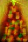 Wakacyjny piksla drzewo Obrazy Stock