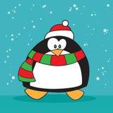 Wakacyjny pingwin dziwny ilustracji