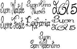 Wakacyjny pismo w włoszczyźnie Obrazy Stock