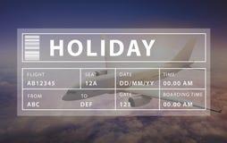 Wakacyjny podróży turystyki relaksu grafiki pojęcie Obraz Royalty Free
