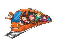 Wakacyjny podróżowanie z pociągiem Obrazy Royalty Free